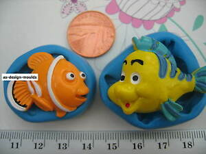 Cartoon Funny Fish Silicone Mould/Mold Sugar Craft, Cupcakes, Cake Toppers