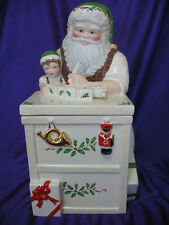 Lenox Christmas Cookie Jar Collecible Large Santa's Workbench  12 1/2""