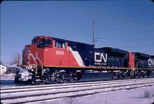 CANADIAN NATIONAL SD70M-2 8804 KODACHROME ORIGINAL SLIDE