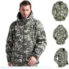 Outdoor Foliage Gunfighter Combat Jacket Soft Shell Sharkskin ACU Camo Tech Coat
