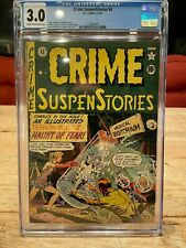 CRIME SUSPENSTORIES #4 CGC 3.0 EC Comics Johnny Craig Cover