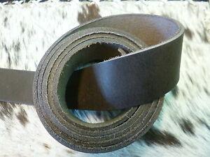 Lederriemen Schwertgürtel Latigoriemen Fettleder 90 - 260 cm x 4 cm dunkelbraun