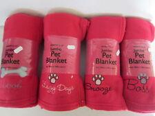Couvertures rouge pour chien