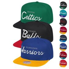 new styles 567cf c9723 NBA Mitchell   Ness Classic Script Throwback Snapback Hat Caps Collection
