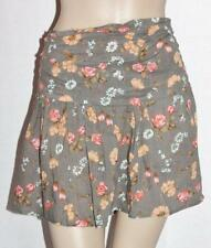 WEST Surf Designer Brown Floral Short Skirt Size 14 BNWT [sy34]