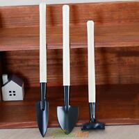 3Pcs Mini Garden Small Harrow Spade Shovel Tools Suit Children Kids Planting