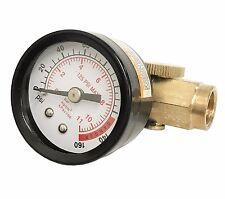 NEW Inline Air Pressure Regulator with Gauge Solid Brass Construction 160 PSI