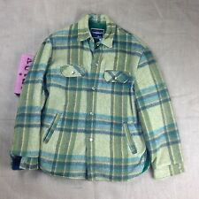 TOWNCRAFT JC Penneys Mens Size Med Hunting Outdoor Plaid Jacket Green Yellow Vtg
