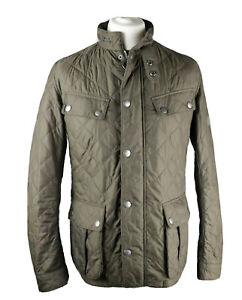Mens BARBOUR INTERNATIONAL ARIEL Quilt Jacket - Large - Brown - Great Condition