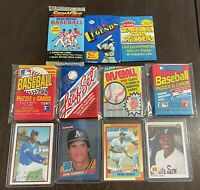Ken Griffey Jr RC Frank Thomas Rookie + 7 Unopened Packs 82 Cards Lot PSA?