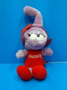 Vintage The SNORKS Plush Figure DAFFNEY 1980's Applause Purple