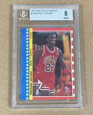 1987-88 Fleer Sticker Michael Jordan #2 BGS 8 Bulls 2nd Yr $1,299.99