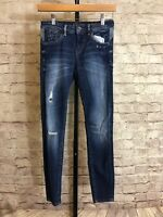 ZARA Z1975 Women's Skinny Distressed Medium Wash Jeans - Tag Size 2