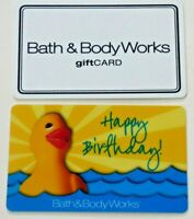 Bath & Body Works Gift Card LOT of 2 - Rubber Duck Happy Birthday - No Value