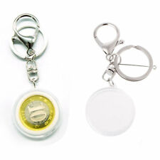 Clear Acrylic Coin Display With Pad Ring Keychain Keyring Holder For 30mm 27mm