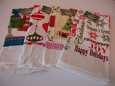 New! S/4 Asst Holiday Christmas Kitchen Towels Tea Hand Dish Towels Terry Cotton