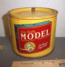 VINTAGE Model smoking tobacco tin, great colors & graphic, for pipe or cigarette