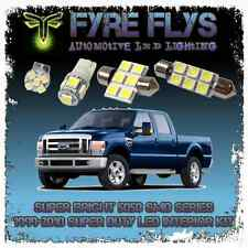 White LED interior lights package kit 1999-2010 F250 F350 Super Duty 5050 series