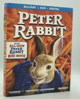 Peter Rabbit (Blu-ray+DVD+Digital, 2018) NEW w/ Slipcover  Perfect EASTER Gift!