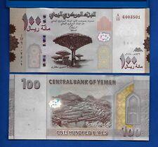 Yemen Arab Republic P-37 100 Rials Year 2019 Uncirculated Banknote Asia