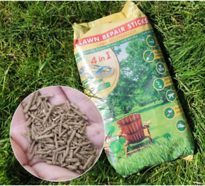 Clay Coated Lawn Repair Sticks Grass seed fast repair of tired lawns BIRD PROOF