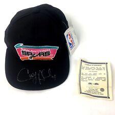 San Antonio Spurs Vintage Cory Alexander Hat Starters Snap Back Autographed NBA