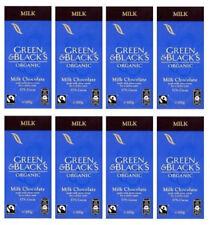 8 x 100g Bars - Green & Black's Organic Fairtrade Milk Chocolate FREEPOST