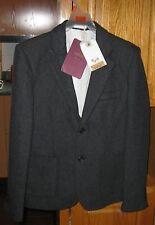 Bellfield Man Jacket Suit B Hackberry Suit Grey Tweed Small  FREE SHIPPING