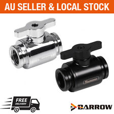 Barrow PC water cooling G1/4 Mini Ball valve stop shutoff fitting adapter