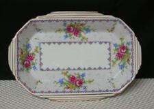 """Vintage PETIT POINT Royal Albert 7"""" SWEET MEAT TRAY DISH China England Candy"""