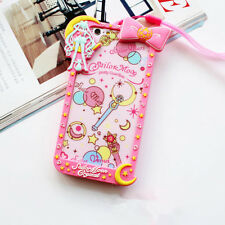 Cartoon Bow Frame Sailor Moon Silicone Soft Case Cover For iPhone 5 6S 7 8 Plus