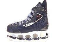 CCM U+ 03 t-blade Eishockey Schlittschuhe  - Senior Gr. 45 - Ice Skate t blade
