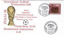 BUND Brief DEUTSCHLAND Fußball-Weltmeister 1990 gestempelt
