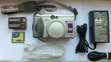 Canon PowerShot G3 4.0MP Digital Camera - Metallic silver + 128 MB Memory Card