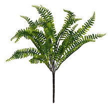 "Boston Fern 19"" Bush ~ Greenery Filler Silk Flowers Centerpieces Home Decoration"