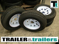 NEW Sunraysia Style Trailer Wheels + NEW LIGHT TRUCK TYRES - SET of 4