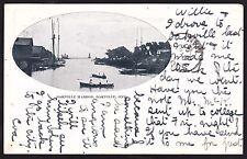Circa 1907 Vintage Postcard OAKVILLE HARBOR, Ontario, Canada