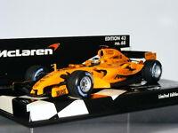 Minichamps McLaren Mercedes MP4-20 Pedro De La Rosa 2006 Test MLC-68 LTD ED 1/43