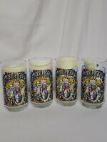 Vintage 1981 McDonalds Great Muppet Caper Miss Piggy Glasses Set of 4 EUC