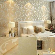 3D Luxury Gold Damask Embossed Wallpaper Rolls Feature TV Background Décor UK