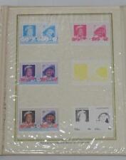Rare 1985 Vaitupu Queen Mother Progressive Colour Proofs Presentation Set