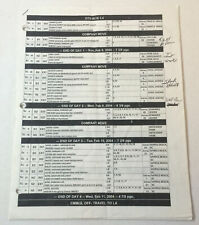 ONE TREE HILL set used SHOOTING SCHEDULE ~ Season 1, Episode 16