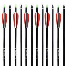 """50pcs Archery Carbon Arrow 31"""" Compound Recurve Bow Hunting SP 500 Screw Points"""