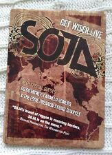 SOJA - GET WISER LIVE  (DVD- RARE) REGION-1, LIKE NEW-FREE POST WITHIN AUSTRALIA