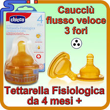 TETTARELLA CHICCO FISIOLOGICA ANTICOLICA 4M+ 3 FORI BIBERON BENESSERE TETTARELLE