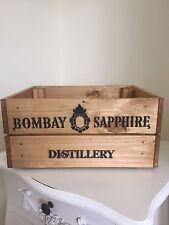 Estilo Vintage De Madera Bombay Sapphire champán wine Cajón Caja de almacenamiento de información