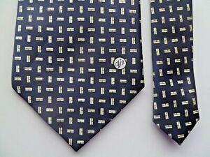 Versace Classic V2 Men's Tie 100% Silk Navy Blue Excellent Condition