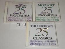 Mozart 25 Favorites Thunderous Classics Classical Lot 3 CD -0717CD148