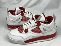Nike Air Jordan 4 Retro BG Size 7Y Alternate 89 Red WHite 408452-106 #0222