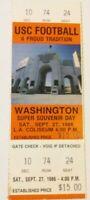 1986 USC Trojans Washington Football Full Unused Ticket Stub